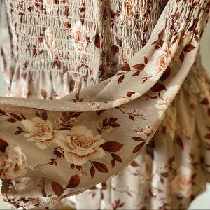 AE Boho Floral Blouse